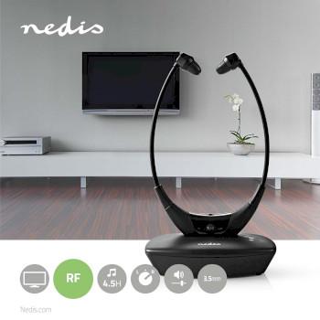 Trådløse Hodetelefoner   Radiofrekvens (RF)   Med Ørepropper   Ladesokkel   Svart