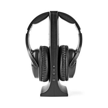 Trådløse hodetelefoner   Radiofrekvens (RF)   Over øret   Ladesokkel   Svart