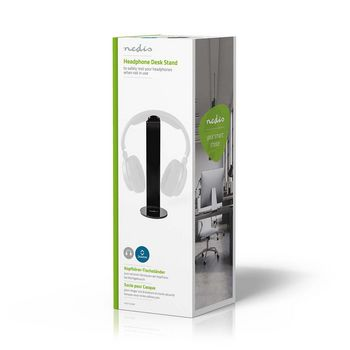 Headphones Stand | ABS | 87 x 244 mm | Black