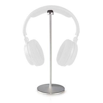Headphones Stand | Aluminium Design | 98 x 276 mm | Silver