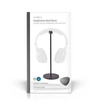 Headphones Stand | Aluminium Design | 98 x 276 mm | Black