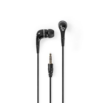 Wired Headphones   1.2 m Round Cable   In-Ear   Black