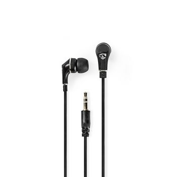 Wired Headphones | 1.2 m Flat Cable | In-Ear | Black