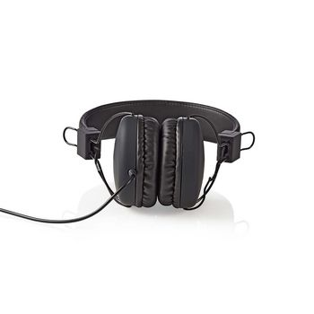 Wired Headphones | On-ear | Foldable | 1.2 m Round Cable | Black