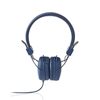 Wired Headphones   On-ear   Foldable   1.2 m Round Cable   Blue