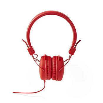 Wired Headphones | On-ear | Foldable | 1.2 m Round Cable | Red