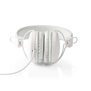 Wired Headphones | On-ear | Foldable | 1.2 m Round Cable | White