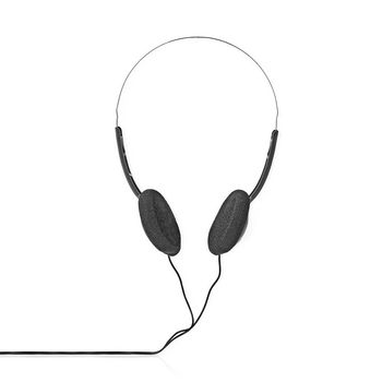 On-ear-hovedtelefoner | 1,2 m kabel | Sort
