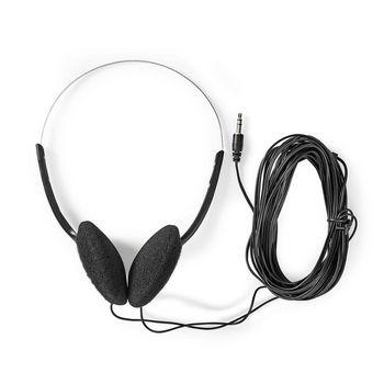 Wired Headphones | 6.0 m Round Cable | On-Ear | Black