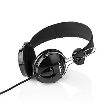 Wired Headphones | 1.1 m Round Cable | On-Ear | Lightweight | Black