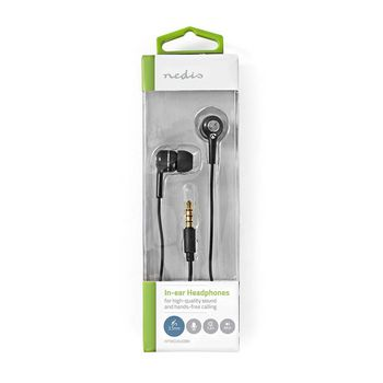 Wired Headphones | 1.2 m Round Cable | In-Ear | Built-in Microphone | Black