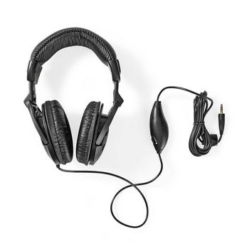 Wired Headphones | 2.5m Round Cable | Over-Ear | Black