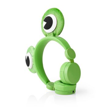 Wired Headphones | 1.2 m Round Cable | On-Ear | Detachable Magnetic Ears | Freddy Frog | Green