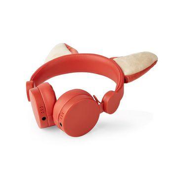 Cuffie con Filo | Cavo Rotondo da 1,2 m | Sovrauricolari | Padiglioni Magnetici Rimovibili | Franky Fox | Arancione