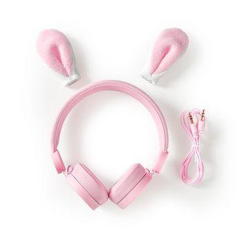 Vezetékes Fejhallgató | 1,2 m-es Kerek Kábel | Fülre Illeszkedő | Levehető Mágneses Fülek | Robby Rabbit | Rózsaszín