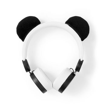 Wired Headphones | 1.2 m Round Cable | On-Ear | Detachable Magnetic Ears | Patty Panda | White