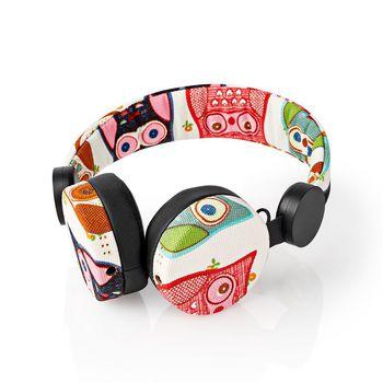 Bedrade Koptelefoon | 1,2 m Ronde Kabel | On-Ear | Uil | Zwart