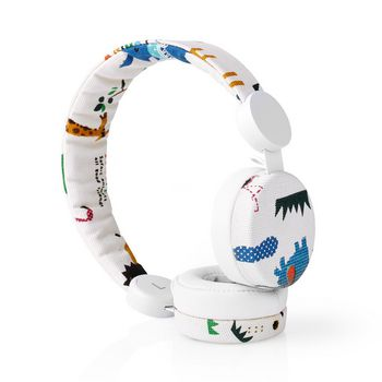 Wired Headphones | 1.2 m Round Cable | On-ear | Safari | White