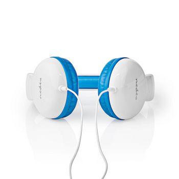 Drátová Sluchátka | 1,2 Kulatý Kabel | Na Uši | Modrá / Bílá