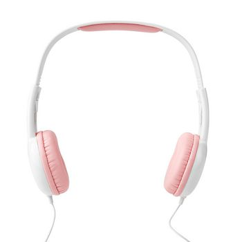 Wired Headphones | 1.2 Round Cable | On-ear | Pink / White