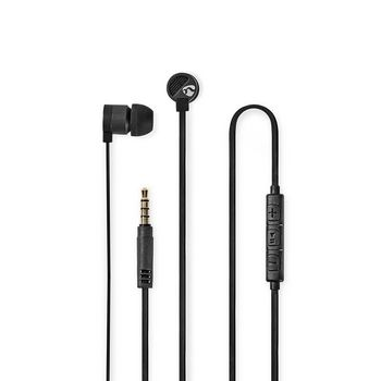 Wired Headphones | 1.2 m Flat Cable | In-Ear | Built-in Microphone | Aluminium | Grey