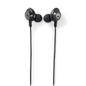 Wired Headphones | In-ear | Active Noise Cancelling (ANC) | 1.2 m Round Cable | Grey