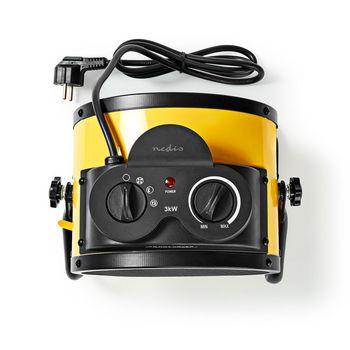 Ceramic Fan Heater Industrial Design   Thermostat   3 Settings   3000 W   Yellow