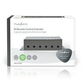 IR Remote Control Extender | 30 - 60 KHz | For 6 Devices | 10.0 m Range | Anthracite