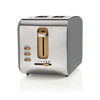 Toaster | 2 Wide Slots | Soft-Touch | Grey