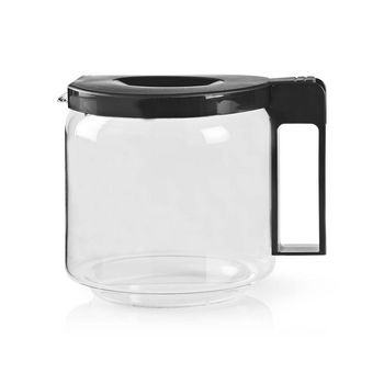 Glass Coffee Jug | Compatible with: Moccamaster CD / GCS / KBG / Excellent 10SN | 1.25 l | Black