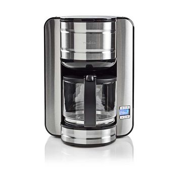 Coffee Maker | 12 Cup Capacity | 24h Timer | Stainless Steel