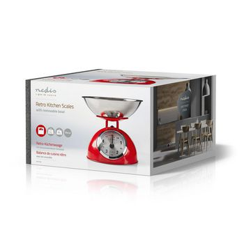 Retro Kitchen Scales | Analogue | Metal | Red