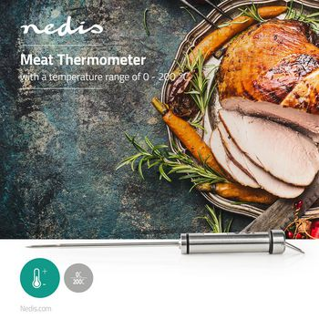 Meat Thermometer | 0 - 200 °C | Digital Display