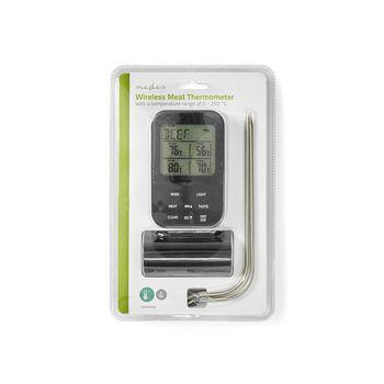 Draadloze Vleesthermometer | 0 - 250 °C | Digitaal Display | Timer