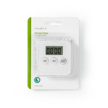 Kitchen Timer | Digital Display | White