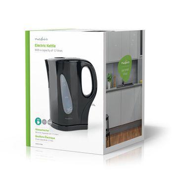 Electric Kettle | 1.7 l | Plastic | Black | Boil-dry protection