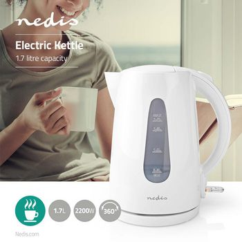 Electric Kettle | 1.7 L | 360° Rotation | White