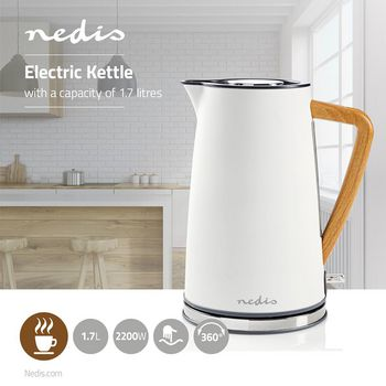 Electric Kettle   1.7 L   Soft-Touch   White