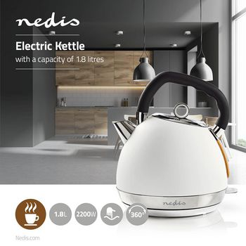 Electric Kettle | 1.8 L | Soft-Touch | White