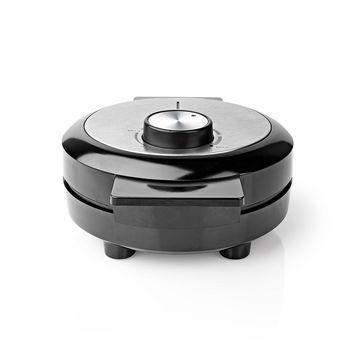 Piastra per waffle | 19 cm | 1000 W | Nero
