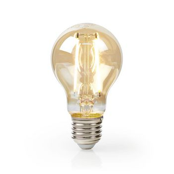 LED Filament Bulb E27 | A60 | 5.4 W | 400 lm | 2500 K | With Gold Finish | Retro Style | Number of lamps in packaging: 1