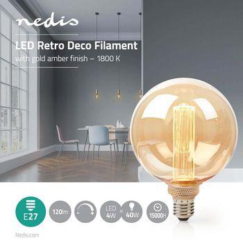 Retro Deco G125 | E27 | 4 W | 120 lm | 1800 K