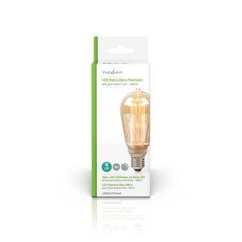 LED glødepære E27 | ST64 | 3.5 W | 120 lm | 1800 K | Med guld-rød finish | Retro stil | Antal lamper i emballagen: 1