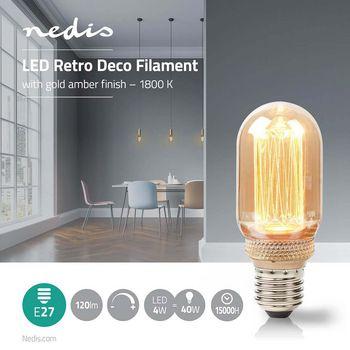 Retro Dekor T45 | E27 | 4 W | 120 lm | 1800 K