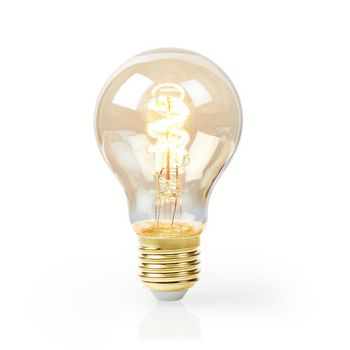LED Filament Bulb E27 | A60 | 5 W | 250 lm | 2000 K | With Gold Finish | Retro Style | Number of lamps in packaging: 1
