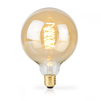 LED Filament Bulb E27 | G125 | 5 W | 250 lm | 2000 K | With Gold Finish | Retro Style | Number of lamps in packaging: 1
