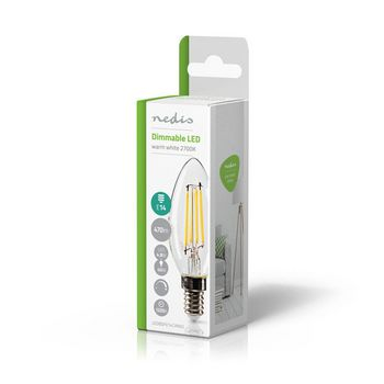 Dimmable LED Retro Filament Lamp E14 | Candle | 4.8 W | 470 lm