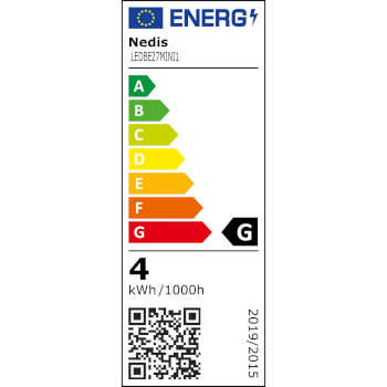 LED-Lampe, E27   G45   3,5 W   250 lm