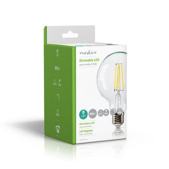 Dimmable LED Retro Filament Lamp E27 | G95 | 8.3 W | 806 lm