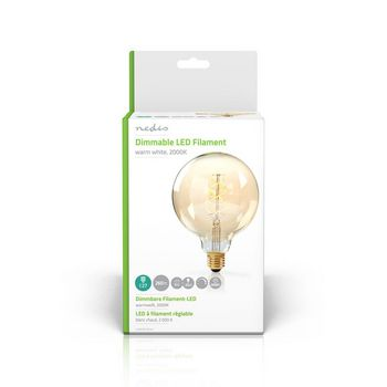 Dimmable LED Vintage Filament Lamp E27 | G125 | 5 W | 260 lm